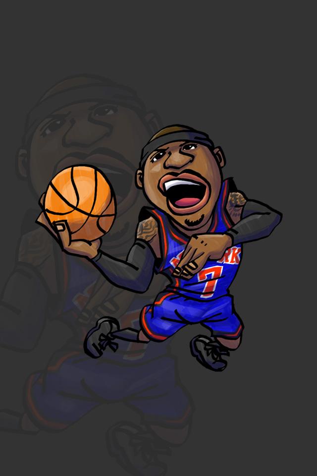 Nbaイラスト バスケイラスト アンストッパブル Nba Illustration Nba Caricature Unstoppable Carmelo Anthony カーメロ アンソニー