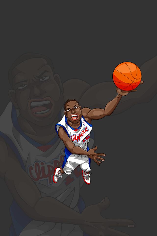 Nbaイラスト バスケイラスト アンストッパブル Nba Illustration Nba Caricature Unstoppable Elton Brand エルトン ブランド