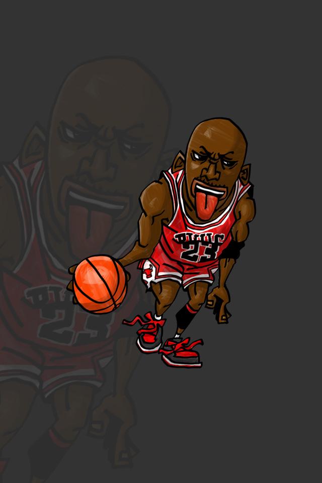 Nbaイラスト バスケイラスト アンストッパブル Nba Illustration Nba Caricature Unstoppable Michael Jordan マイケル ジョーダン